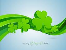 3D shamrock leaves for St. Patricks Day celebration. Stock Photos