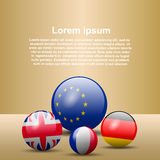 3d shape flags. Vector illustration of 3d shape flags Royalty Free Stock Photo