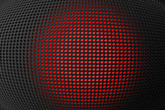 3D shape holes on metallic panel Royalty Free Stock Images