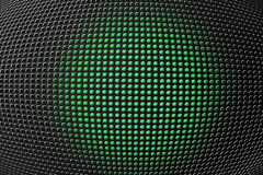3D shape holes on metallic panel. Round shape holes on metallic panel Royalty Free Stock Photo
