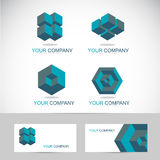 3d shapes logo Stock Photo