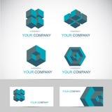 3d shapes logo Stock Photo