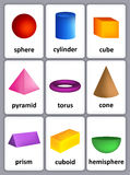 3D shapes Stock Image