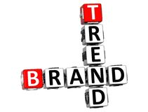 3D Share Brand Trend Crossword cube words Royalty Free Stock Images