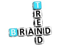 3D Share Brand Trend Crossword cube words Stock Photos