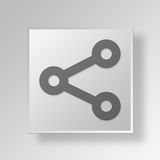 3D Share icon Business Concept Royalty Free Stock Images
