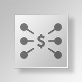 3D Share icon Business Concept Royalty Free Stock Photography