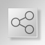 3D Share icon Business Concept Stock Images