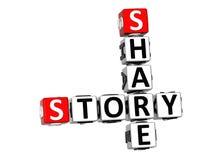 3D Share Story Crossword Stock Image