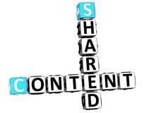3D Shared Content Crossword. On white background Royalty Free Stock Images