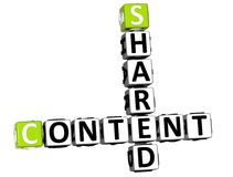 3D Shared Content Crossword. On white background Stock Image