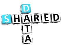 3D Shared Data Crossword Royalty Free Stock Photography