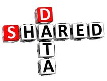 3D Shared Data Crossword Royalty Free Stock Images
