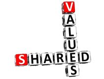 3D Sharing Values Crossword cube. Words on white background Stock Photo