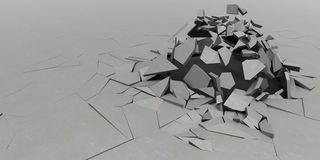 3D Shatter Abstract Wallpaper Background. Render of 3D Shatter Abstract Wallpaper Background royalty free stock photos