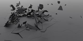 3D Shatter Abstract Wallpaper Background Royalty Free Stock Photos