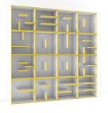 3D shelves Stock Image