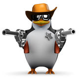 3d Sheriff penguin Royalty Free Stock Image