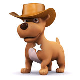 3d Sheriff puppy Stock Images