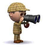 3d Sherlock binoculars Stock Photography