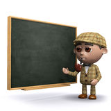 3d Sherlock blackboard Stock Photos