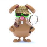 3d Sherlock bunny Royalty Free Stock Photos