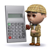 3d Sherlock calcule illustration de vecteur