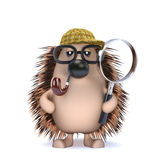 3d Sherlock hedgehog vector illustration