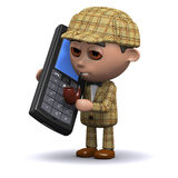 3d Sherlock mobile phone Stock Photography