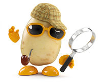 3d Sherlock potato Royalty Free Stock Image
