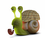 3d Sherlock Snail Royalty Free Stock Images