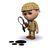 3d Sherlock is on the trail Royalty Free Stock Images