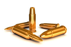 3d shinny golden bullets Royalty Free Stock Image