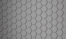 3D shiny abstract grey metallic surface Stock Photos