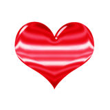 3D shiny red heart, isolated on white Stock Photo