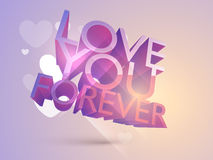 3D shiny text for Happy Valentines Day celebration. Royalty Free Stock Images