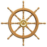 3d ship wheel isolated Royalty Free Stock Photos