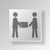 3D shipment icon Business Concept. 3D Symbol Gray Square shipment icon Business Concept Stock Image