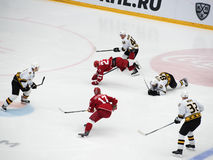 d Shitikov ( 23) caia para baixo Imagens de Stock