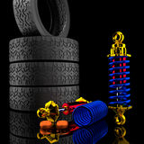 3d Shock Absorber. Stock Image