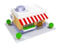 3d shop icon Stock Photos