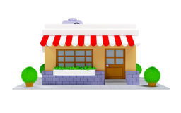3d shop icon Stock Images