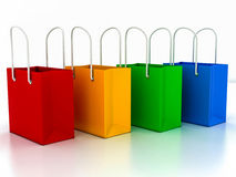3d shopping bag Stock Photography