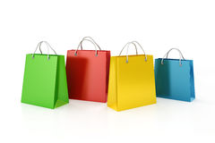 3d shopping bags, sale concept. On white background Stock Images
