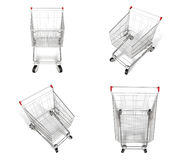 3D shopping cart icon. 3D Icon Design Series. Royalty Free Stock Image