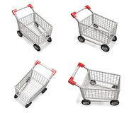 3D shopping cart icon. 3D Icon Design Series. Stock Image