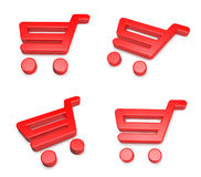 3D shopping cart icon. 3D Icon Design Series. Stock Photography