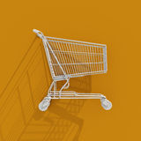 3d Shopping Cart Icon Royalty Free Stock Images