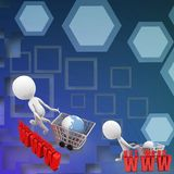 3d Shopping cart network www illustration Stock Image