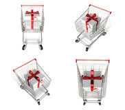 3D Shopping cart and purchase icons. 3D Icon Design Series. Stock Photos